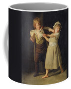 Two Children Fighting Over A Piece Of Bread Coffee Mug