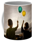 Two Children With Balloons Coffee Mug