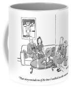 Two Couples Sit Drinking Tea In A Living Room Coffee Mug