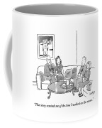 Two Couples Sit Drinking Tea In A Living Room Coffee Mug by Robert Leighton