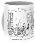 Two Couples Sitting In The Middle Of A House Coffee Mug