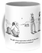 Two Cowboys Look Into Their Coffee Coffee Mug