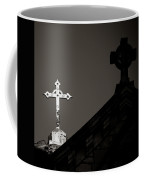 Two Crosses In Jerusalem In Black And White Coffee Mug
