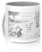 Two Dogs Criticize A Cat Who Has Just Retrieved Coffee Mug