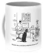 Two Dogs Speak As Their Owner Uses The Computer - Coffee Mug