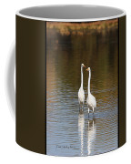 Two Egrets In The Pond Coffee Mug