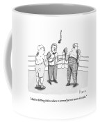 Two Elderly Men Meet In A Boxing Ring Coffee Mug