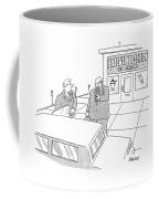 Two Executives Eat Ice Cream Outside An Ice Cream Coffee Mug