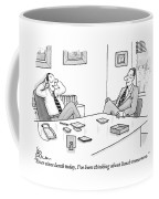 Two Executives In Suits Sit At A Business Table Coffee Mug