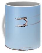 Two F-16 Thunderbird Falcons Flying Tail To Tail Coffee Mug