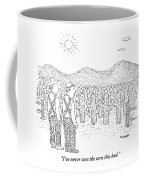 Two Farmers Stand By A Tractor Coffee Mug