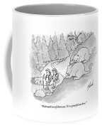 Two Fat Mountain Lions Plan The Perfect Attack Coffee Mug by Tom Toro