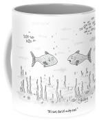 Two Fish Speak Underwater Coffee Mug