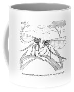 Two Flies In A Relationship Discussing Coffee Mug
