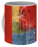 Two Flowers Coffee Mug by Linda Woods