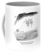 Two Formally Dressed Bugs Fly Away From A Another Coffee Mug by Tom Toro