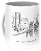 Two French Soldiers Look At A Guillotine Coffee Mug by Julia Suits