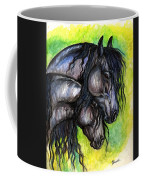 Two Fresian Horses Coffee Mug
