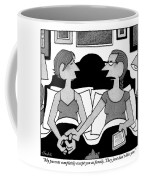 Two Gay Women Talk In Bed Coffee Mug