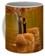 Two Geese In A Line Coffee Mug