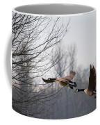 Two Geese In Flight Coffee Mug