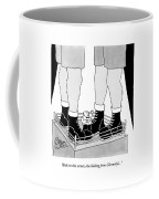 Two Giant Boxers Stand In A Regular Sized Boxing Coffee Mug