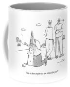 Two Golfers Speak To A Man Coffee Mug