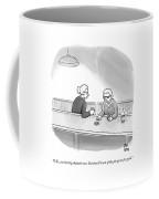 Two Grannies Smoke And Drink At A Bar Coffee Mug