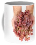 Two Handfuls Of Red Grapes Coffee Mug