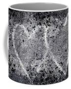 Two Hearts Graffiti Love Coffee Mug by Carol Leigh