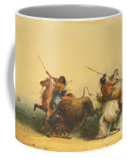 Two Indians Killing A Buffalo Coffee Mug