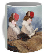 Two Ladies In A Carriage Ride Coffee Mug