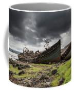 Two Large Boats Abandoned On The Shore Coffee Mug