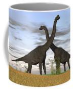 Two Large Brachiosaurus In Prehistoric Coffee Mug