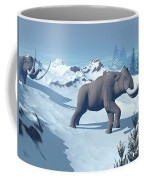 Two Large Mammoths Walking Slowly Coffee Mug by Elena Duvernay
