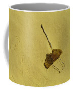 Two Leaves And One Stick At White Sands Coffee Mug