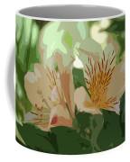 Two Lilies Cutout Coffee Mug