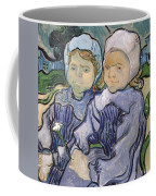 Two Little Girls Coffee Mug by Vincent Van Gogh