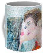 Two Lovers Kissing Coffee Mug