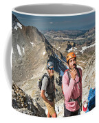 Two Male Hiker Stop To Look Coffee Mug
