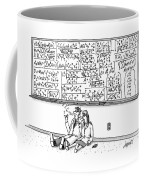 Two Mathematicians Sitting Beneath A Giant Coffee Mug