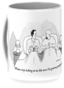 Two Men Are In Bed Together. One Coffee Mug