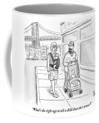 Two Men Are Wearing Ironic Clothes And Walking Coffee Mug