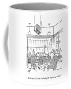 Two Men At A Restaurant Table Coffee Mug