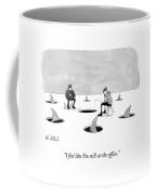 Two Men Ice Fishing Coffee Mug