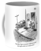 Two Men In Street Clothes Are Sitting Coffee Mug