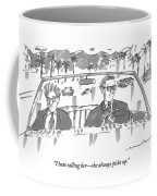 Two Men In Suits Riding In A Convertible Coffee Mug