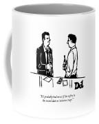 Two Men Talk In A Bar Coffee Mug