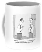 Two Men Talking Coffee Mug