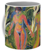 Two Nude Women In A Wood Coffee Mug